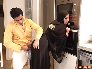 Muslim teen fro Burka sucks brother's dick and gets fucked